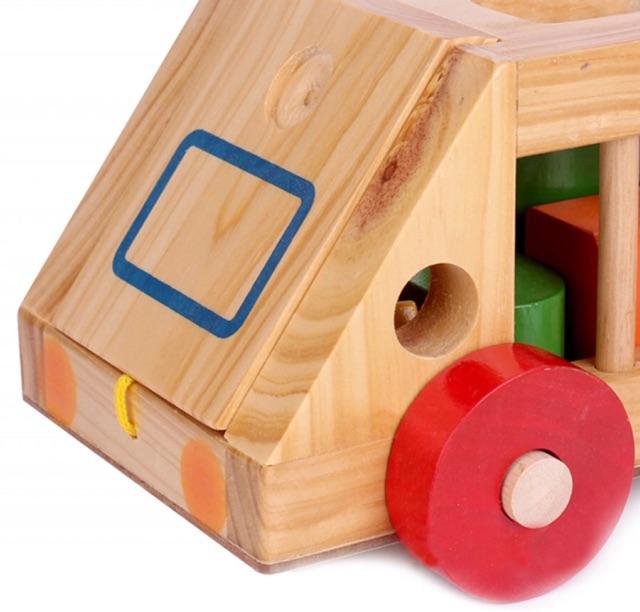 Xe thả hình khối - đồ chơi giáo dục an toàn cho bé