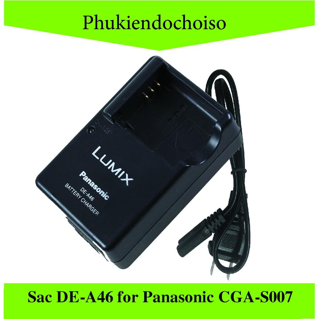 Sạc máy ảnh DE-A46 for Panasonic CGA-S007, Sạc dây