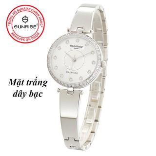Đồng hồ nữ đính đá Sunrise 9936AA siêu mỏng kính Sapphire chống nước chống xước tốt thumbnail