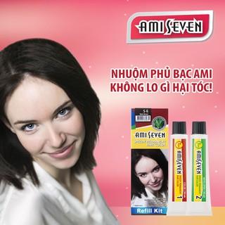 Nhuộm phủ bạc dược thảo Amiseven nhanh 7 phút AMI SEVEN (Loại tiết kiệm) S6 (60g + 60g) Hàn Quốc thumbnail