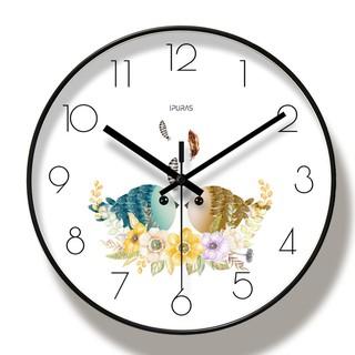 (HÀNG LOẠI I) Đồng hồ treo tường kim trôi ĐÔI CHIM UYÊN ƯƠNG  - Loại 30cm - Tặng kèm pin và móc treo