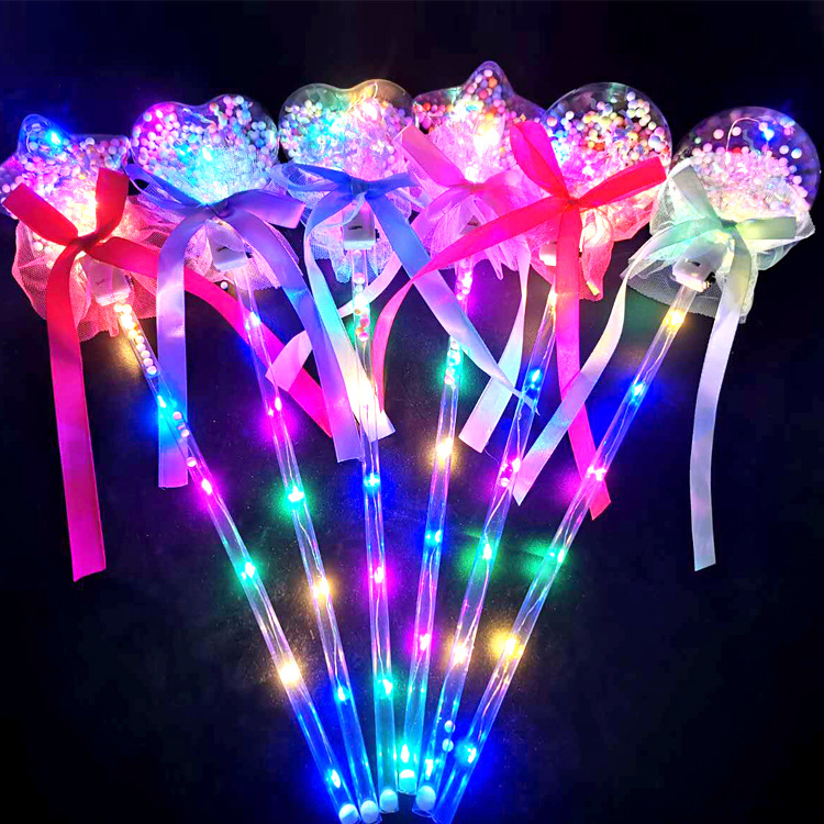 LED luminous wand/Heart star shape glow stick /Party concert decor supplies kids gift