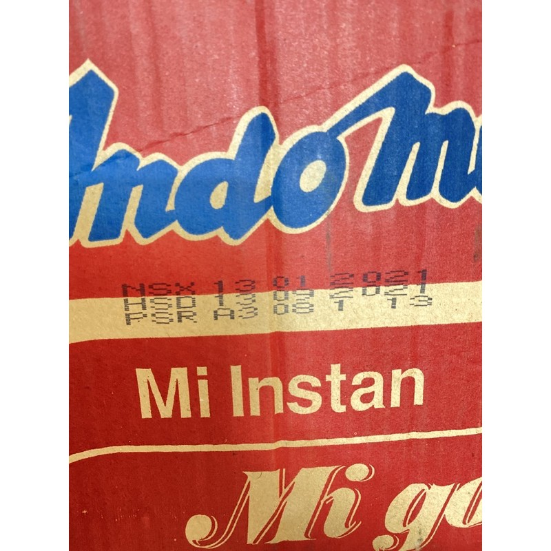[Mã GRO1505 giảm 8% đơn 250K] Thùng 40gói mì xào Indomie 4vị