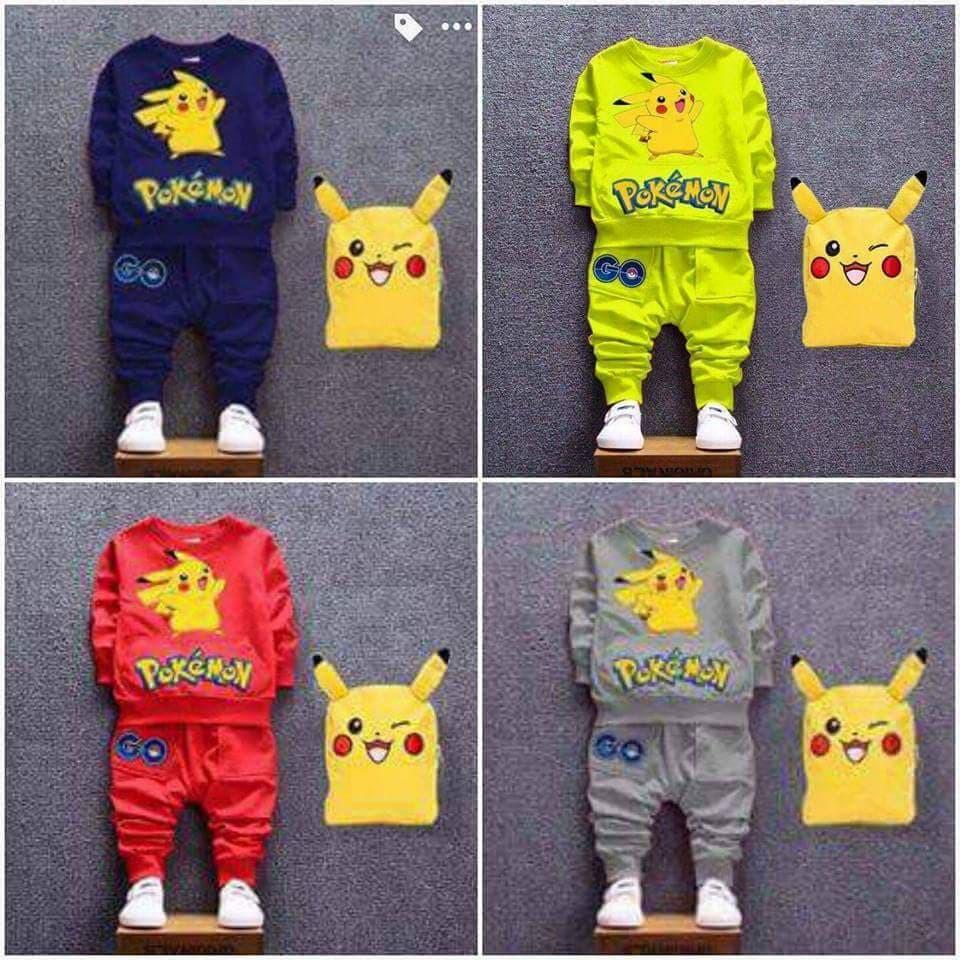 Bộ quần áo thu đông da cá pikachu cho bé - 3206823 , 1295330096 , 322_1295330096 , 90000 , Bo-quan-ao-thu-dong-da-ca-pikachu-cho-be-322_1295330096 , shopee.vn , Bộ quần áo thu đông da cá pikachu cho bé