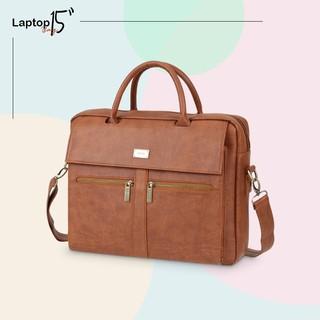 Túi xách Laptop nam nữ 15 ngăn kéo trước thanh lịch IDIGO MB2-6010-00 thumbnail