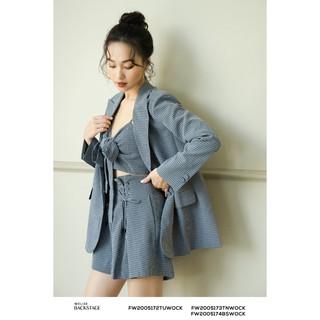 Áo khoác suit kẻ dáng ngắn thiết kế Elise thumbnail