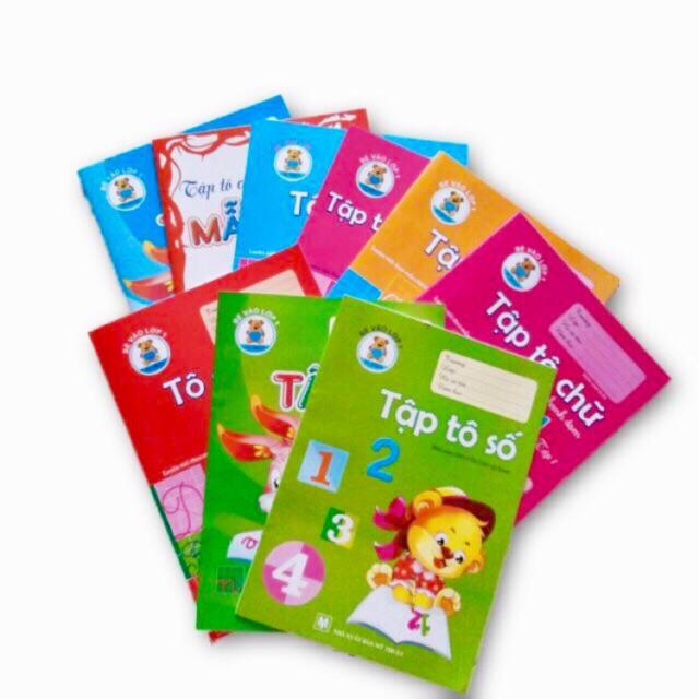 10 quyển tô chữ, tô số cho bé 4-6 tuổi (10 chủ đề khác nhau)