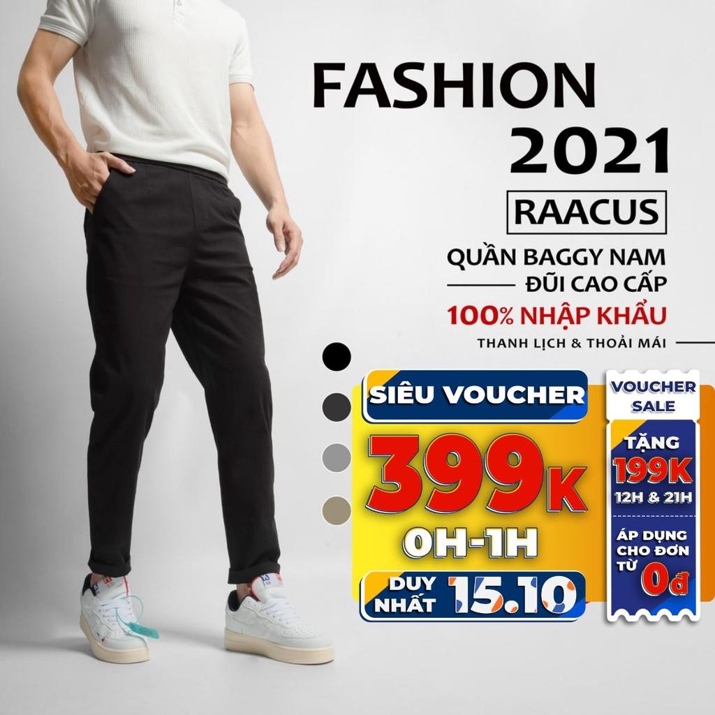 Quần baggy nam Raacus dáng suông, quần dài nam baggy thể thao ống rộng thời trang cao cấp – Q020