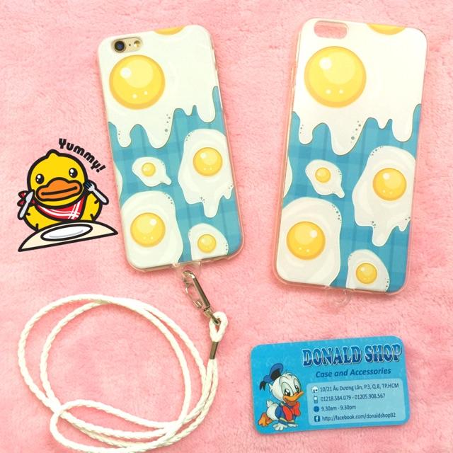 Ốp iphone 6 / 6s  dẻo hình trứng ốp la