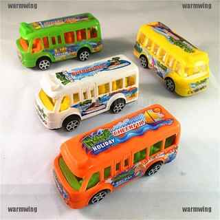 【WMW】Plastic School Bus Kids Toys American Student Pull Back Kids Gifts Toys