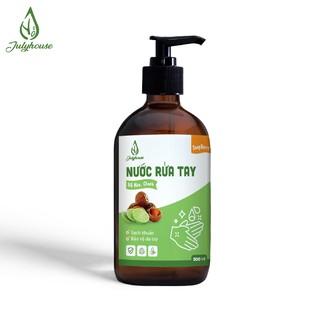 Nước rửa tay diệt khuẩn chiết xuất trái Bồ Hòn và tinh dầu Chanh nguyên chất 500ml Julyhouse-0