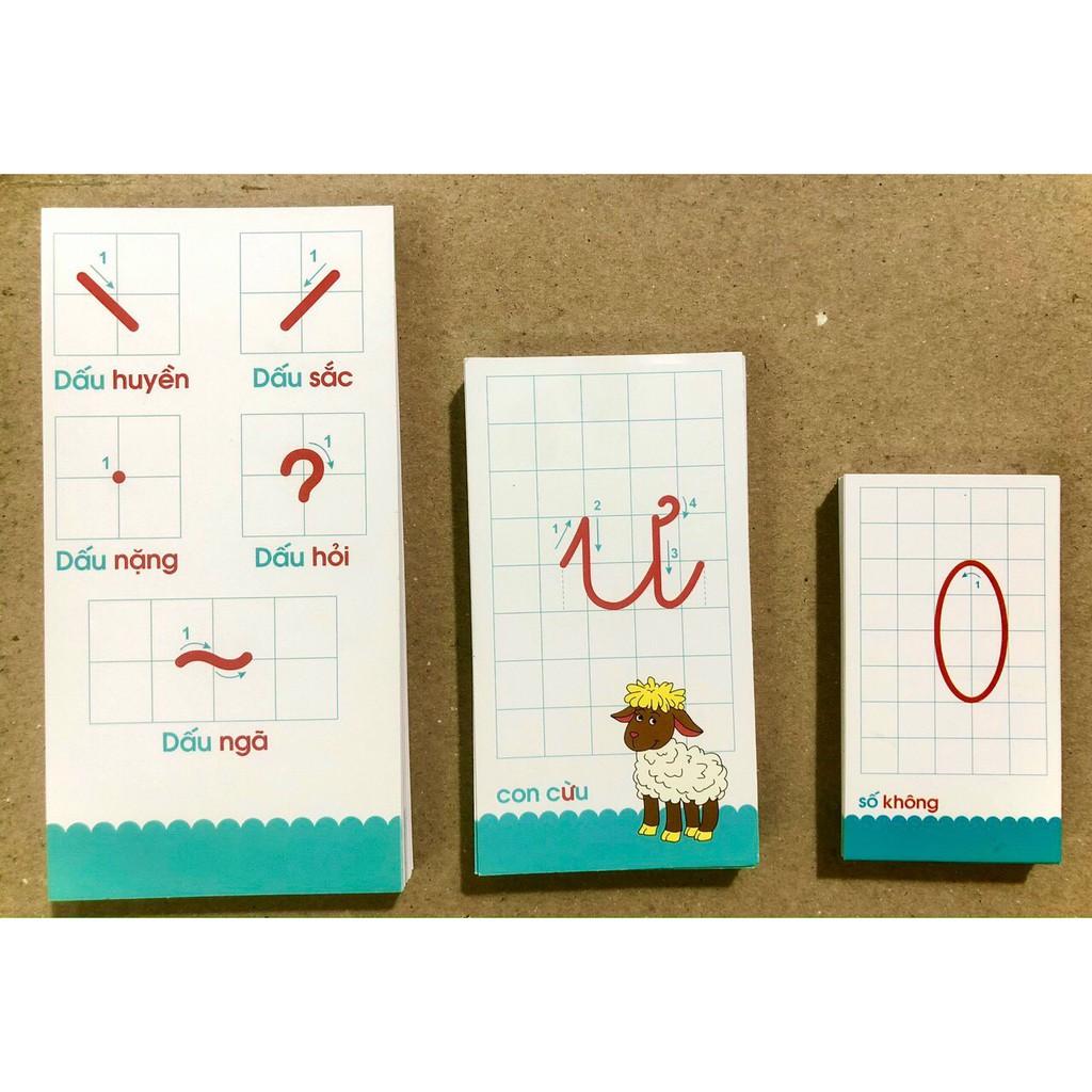 Thẻ tập đánh vần cho bé,bộ 40 thẻ flashcard thẻ học thông minh, học bảng chữ cái, chữ số, dấu thanh loại đẹp