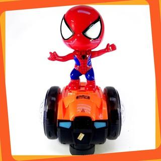 [Siêu Phẩm] Bộ đồ chơi người nhện cưỡi xe thăng bằng dành cho bé