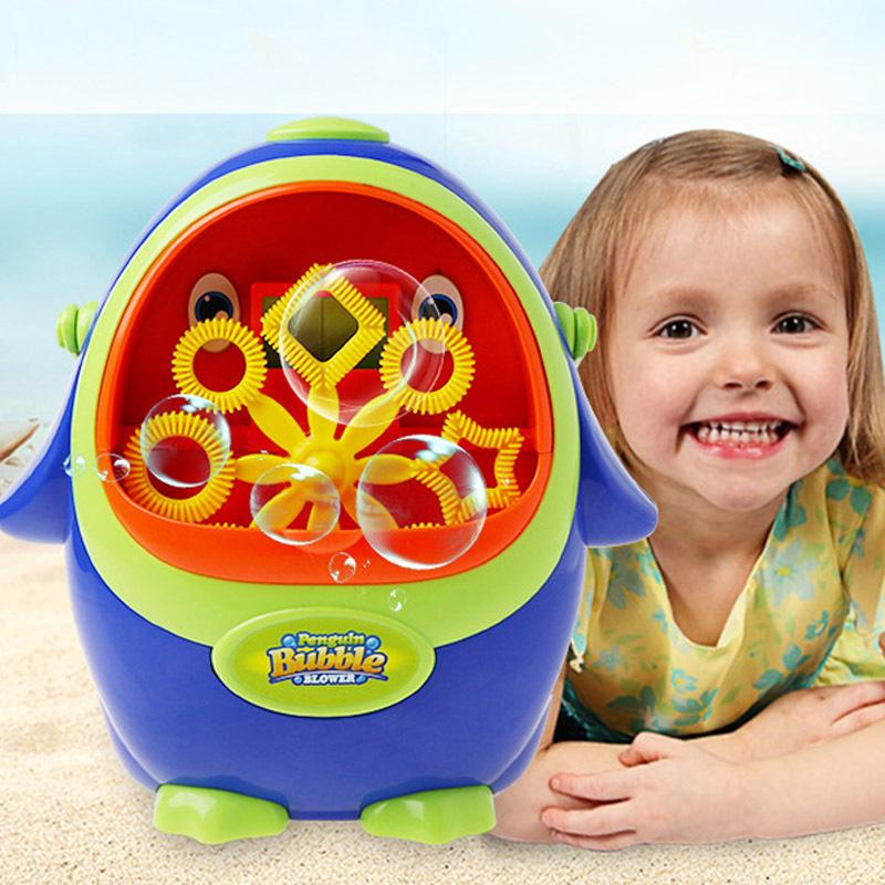 Electric Cikoo Penguin Shape Bubble Machine Kids Toy with Bubble Water