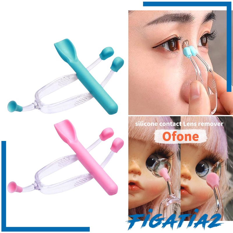 [FIGATIA2] Contact Lens Remover Inserter Suction Cup Device RGP with Carrying Case Blue