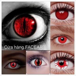 LENS Cosplay Màu đỏ – contact lens halloween- kính áp tròng màu đỏ/ trắng/ vàng/ xanh