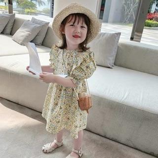 Váy hoa nhí tay bồng dành cho bé