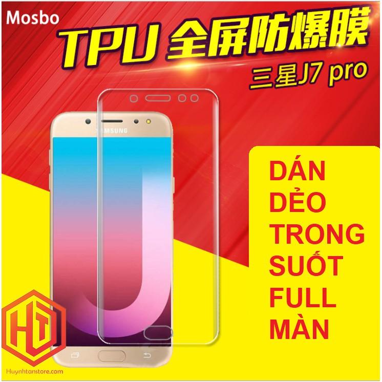 Samsung J7 Pro _ Dán dẻo tpu trong suốt full màn