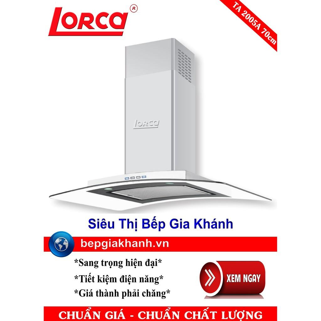 Máy hút mùi nhà bếp dạng kính cong Lorca TA 2005A 70cm, máy hút mùi, máy  hút khói, máy hút khói khử mùi, máy hút mùi bếp