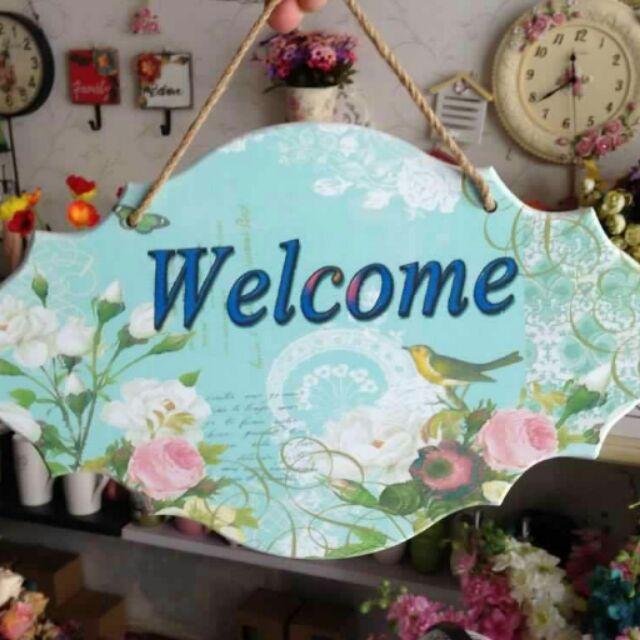 Bảng treo cửa Welcome lớn