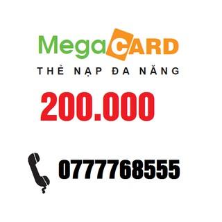 Thẻ Đa Năng Megacard 200k ( thẻ có thể nạp điện thoại Mobifone , Vinaphone trả trước và sau )