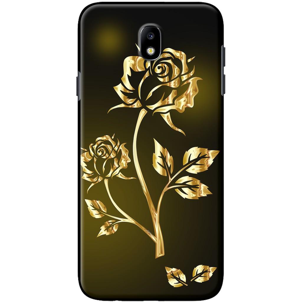 Ốp lưng Samsung J3 Pro, J7 Pro, J7 Plus Hoa hồng ánh kim