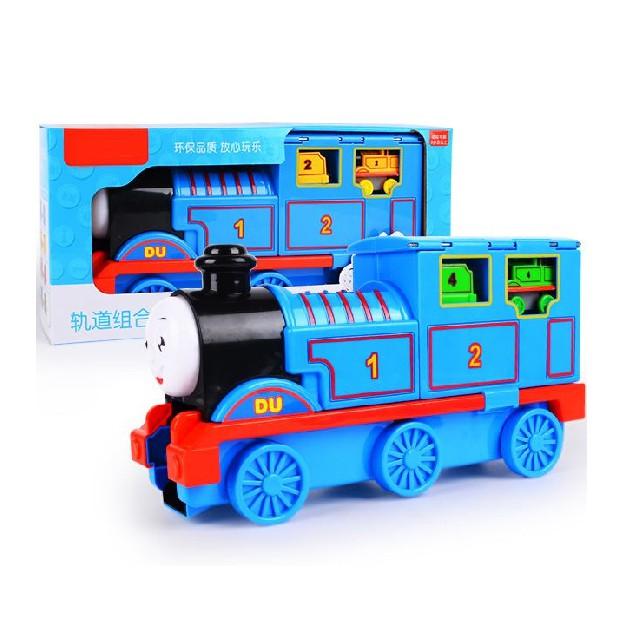 Tàu hỏa Thomas kèm 4 tàu nhỏ nhựa ABS an toàn