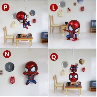 Mô Hình Mavel IRON SPIDER MAN Cosbaby ( Lắc đầu , Phiên bản cuộc chiến vô cực )