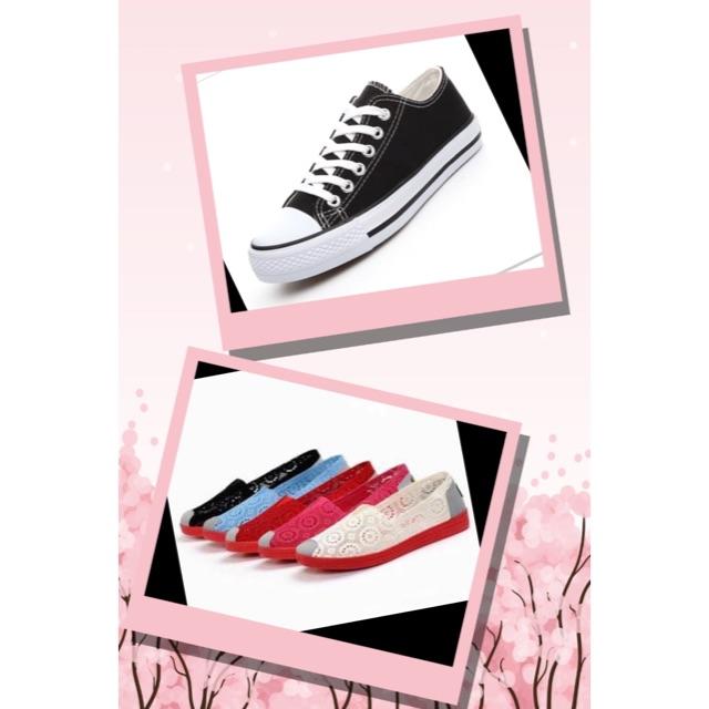 combo giầy ren + converse