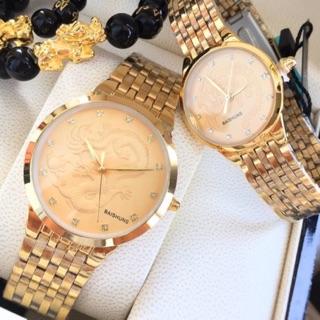 Đồng hồ nữ nam mặt rồng đính đá Baishuns cực chất giá cực rẻ thumbnail