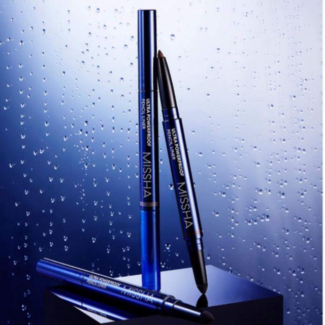 Kẻ mắt dạng gel kèm đầu tán chống trôi Missha_Ultra_Powerproof_Pencil_Liner