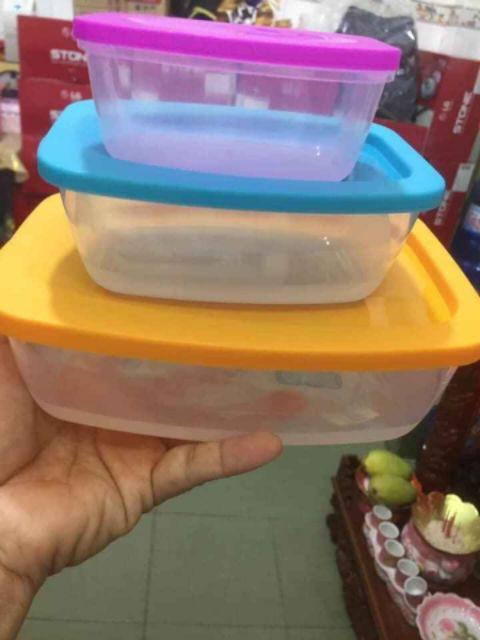 ( Mua 10 tặng 1) Bộ 3 hộp nhựa sanso giá chỉ 27k/ set 3 hộp