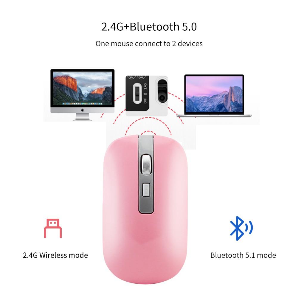 Chuột Không Dây Bluetooth 2.4g Sạc Được