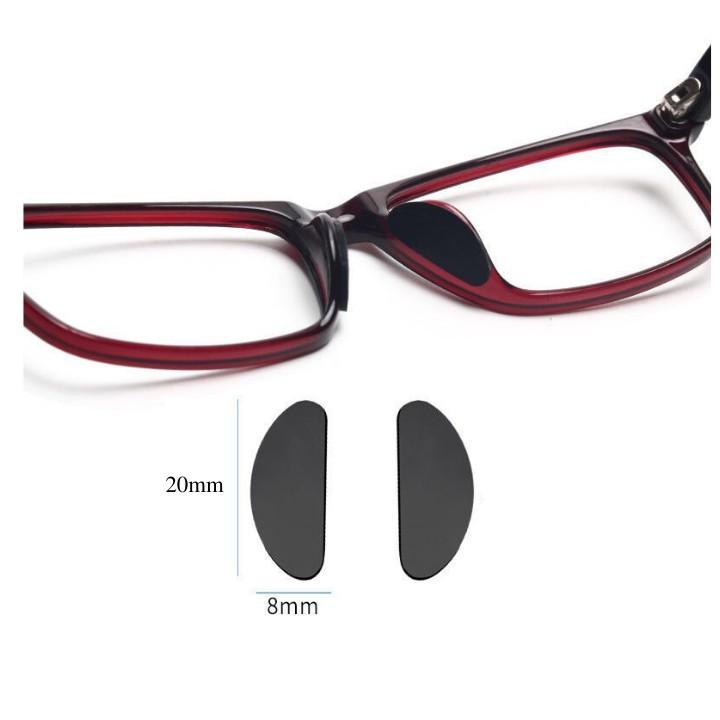 Miếng đệm mũi kính mắt chống trượt - loại dán tiện dụng ( 1 cặp)