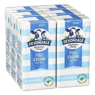 Thùng 24 hộp Sữa Tươi Tiệt Trùng Devondale Nguyên Kem 200ml