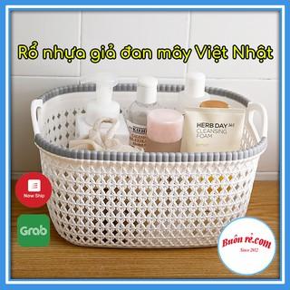 Rổ Nhựa Giả Đan Mây Có Quai Cầm Cỡ Nhỏ Việt Nhật 3378-1 – Buôn Rẻ 00690