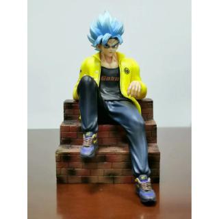 Dragon Ball Z Goku Saiyan Songoku PVC Anime Figure DBZ Collection Mode 25cm Can Change Head