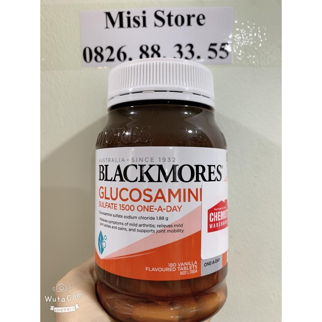 (Tem Chemist) Glucosamine Blackmores 180v, viên uống xương khớp, mẫu mới