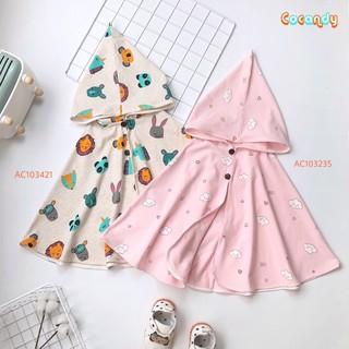 Áo choàng cho bé -áo choàng cánh dơi-áo chống nắng-chống gió-chất liệu cotton hàn cao cấp lô 001