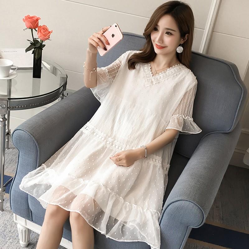 d320 Đầm bầu , váy bầu dễ thương nâng động thích hợp cho mặc nhà dạo phố