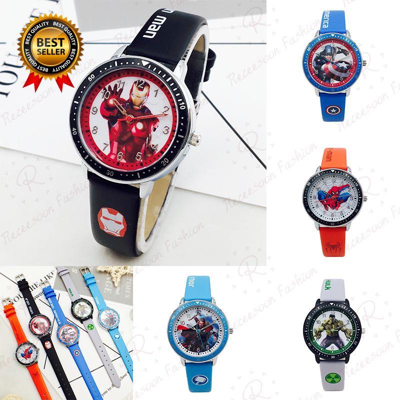 Đồng hồ in hình siêu anh hùng avenger dùng cho trẻ em thumbnail