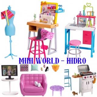 Set phụ kiện nội thất Barbie chính hãng