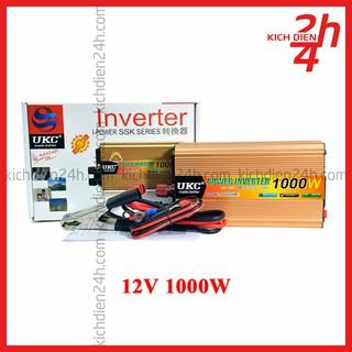 Bộ kích điện 12V lên 220V 1000W – Công suất thực 750-800W (Nấu được nồi cơm) – Inverter 12V 220V 50Hz
