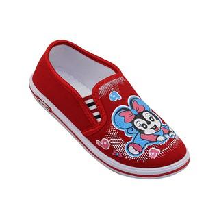 Giày vải Bita s bé gái GVBG.73 (Đỏ Hồng Xanh Jean)