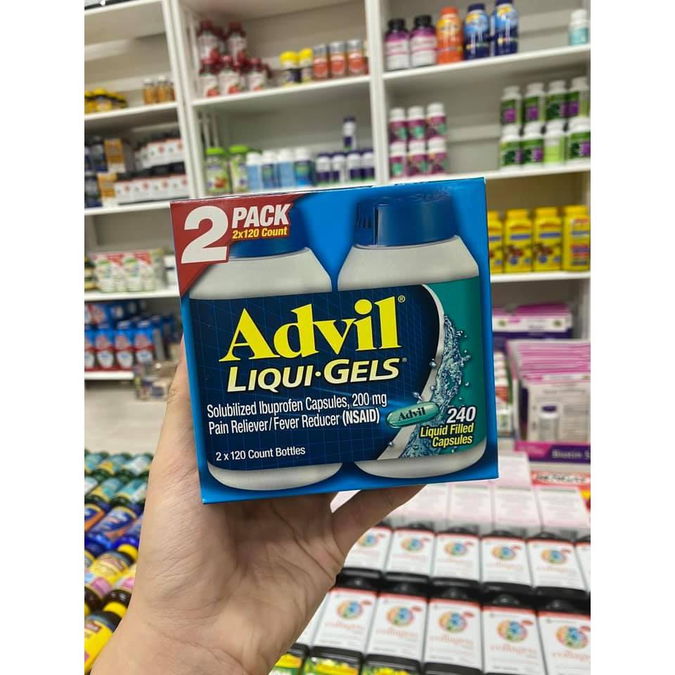 Set hộp đựng 240 viên tinh chất advil_liqui gels