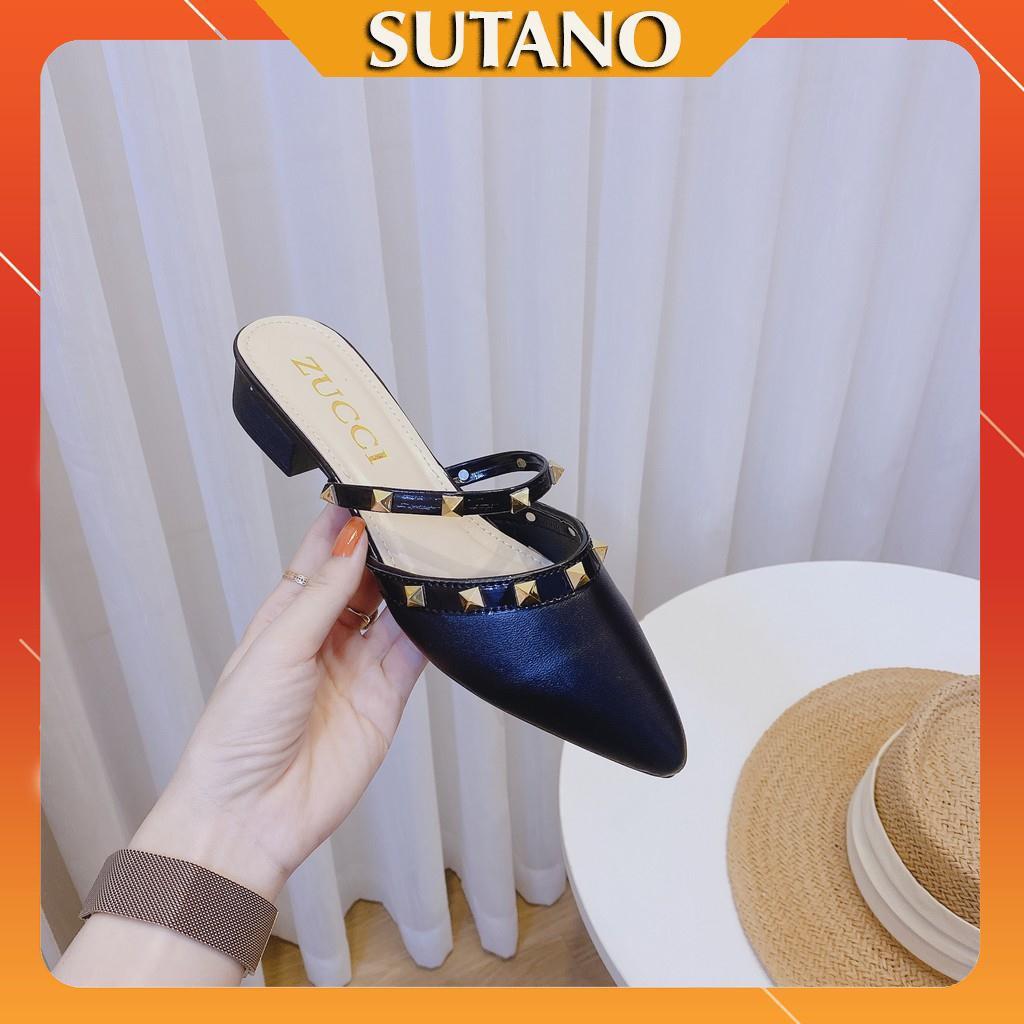 Giày sục nữ thời trang đính kèm hạt lấp lánh sang chảnh DS217  SUTANO