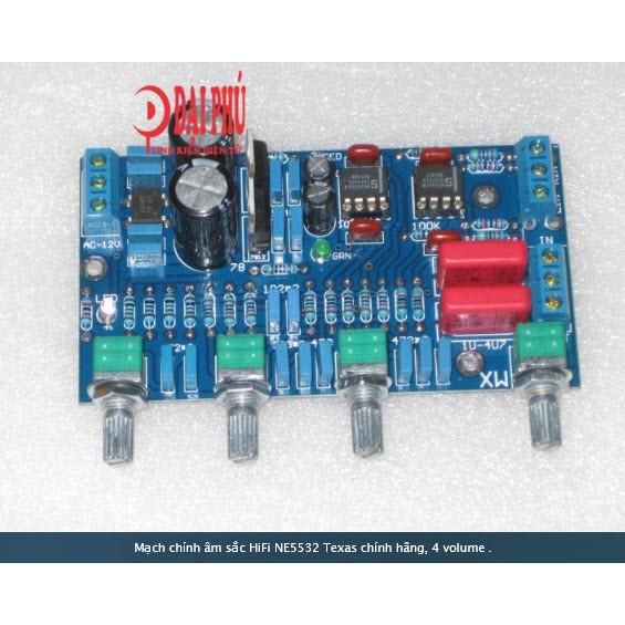 Mạch chỉnh âm sắc HiFi NE5532 Texas chính hãng, 4 volume