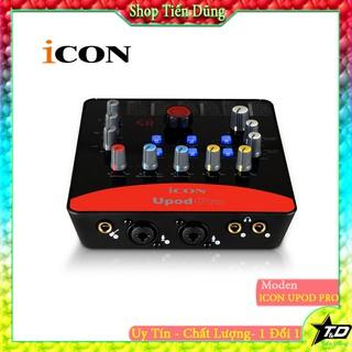 BỘ SOUND CARD ICON Upod Pro có 72 hiệu ứng và chất lượng 16bit/48kHz hỗ trợ nguồn 5-48v