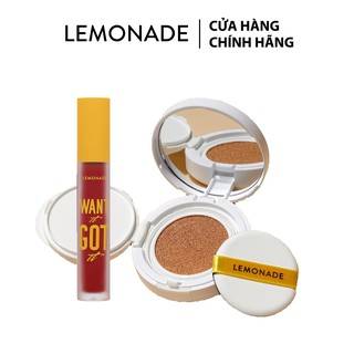 Combo Phấn nước Lemonade Matte Addict Cushion 15g và Son kem lì Want It Got It 5g
