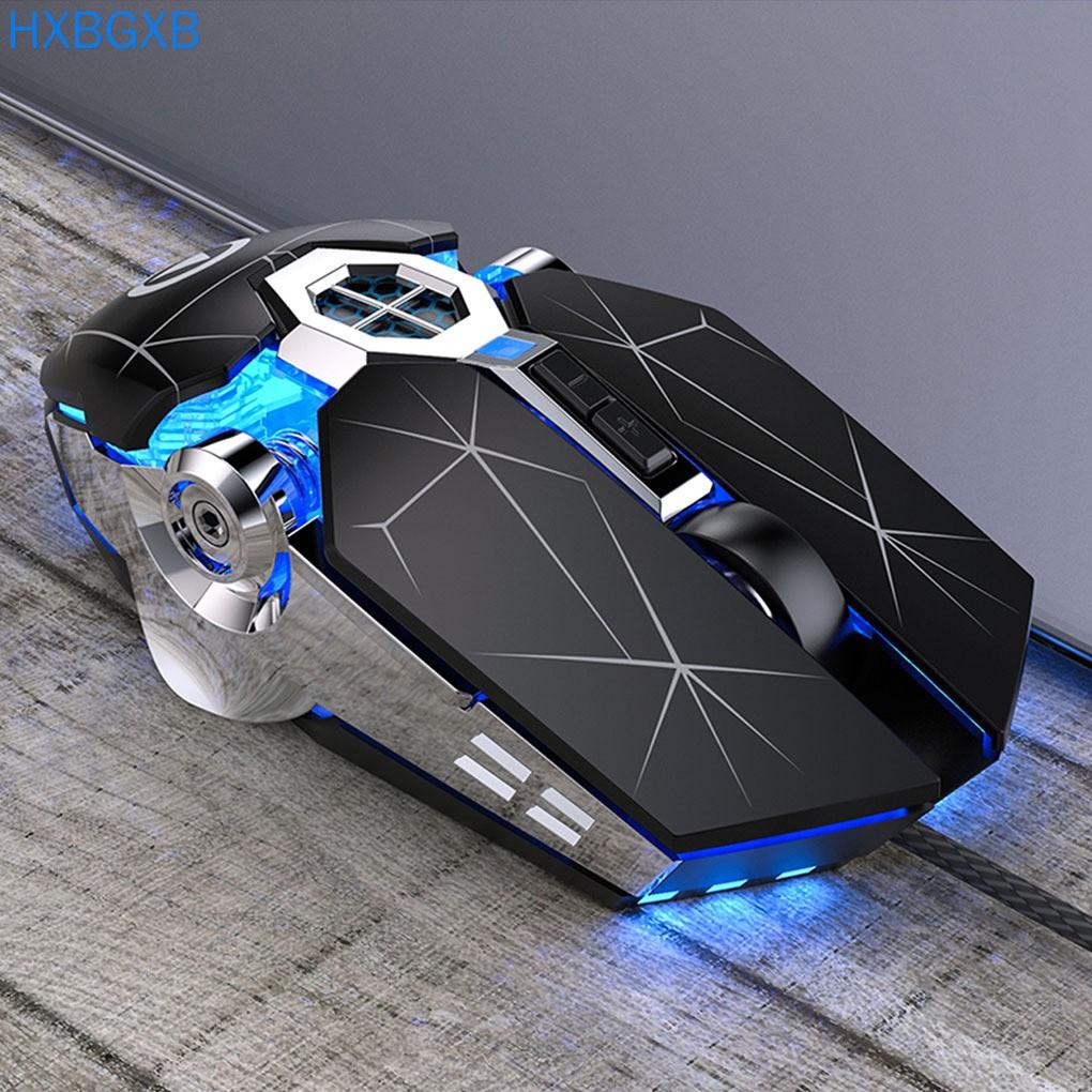 Chuột gaming màu đen đục có đèn nền và nút cảm biến chống trượt không gây tiếng ồn cho laptop máy tính